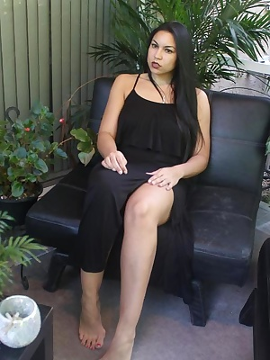 In this photo set, you will see Ching Lan tease you while she is publically outdoors. She knows that you get turned on w