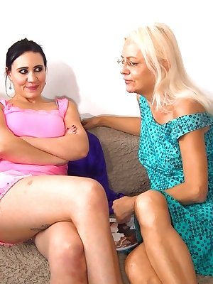 Experienced old women teaching young girls to get hard orgasms