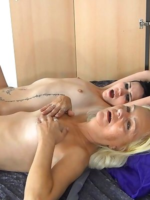 Tied sweet girl receives special treatment from her older girlfriend