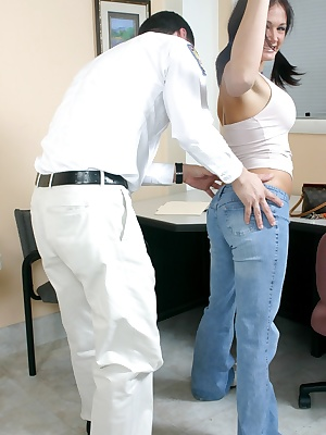 Cute cock sucker Tory wants to visit her pal in prison, but first she has to convince the prison guard to let her in. Sh