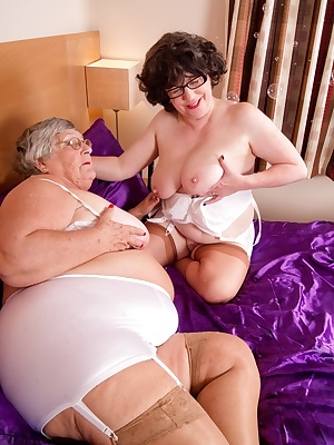 Grandma Libby and Auntie Trisha get together for a red hot sex session so cum and join us  or should I day join us and C