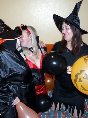 Hubble Bubble Toil and Trouble  the three witches meet for Halloween, Libby, Topaz SC2 and Chloe  I wonder what spells w