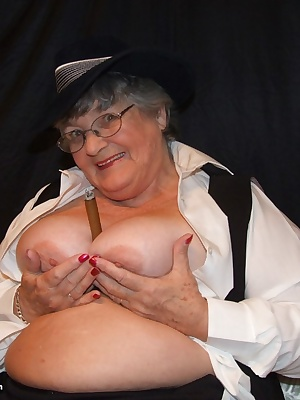 Smoking Hot  by special member request.  Grandma Libby as you have never seen me before but having fun with a BIG  cigar