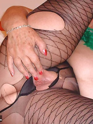Chris was fascinated by my black sexy panty hose but he wasn't satisfied just to look at them.- he wanted to get in them