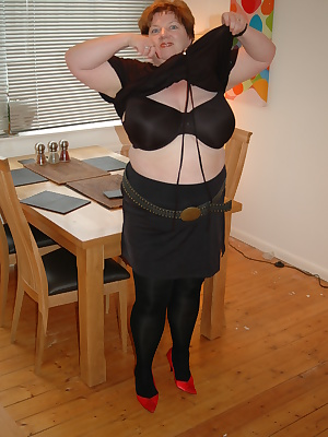For this weeks NEW photos Im wearing some new expensive Italian Trasparenze tights, a short black satin mini skirt, a fu