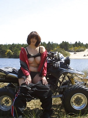 I like to ride hard and get wet. While riding my ATV on the dunes, my pussy gets dripping from the rush of it all. I too