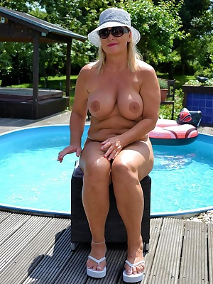 My nude-pool is in my garden. Here I can relax without clothes...
