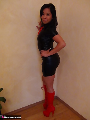 Melissa in sexy dominant outfits, she enjoys it to try new outfits,come and watch her in some new outfits, in high heels