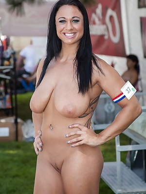 This photo shoot was shot at the world famous Nudes a Poppin event a lot of naked women running around the grounds and s