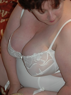 For todays photos Im wearing some of my old-fashioned foundation wear. My huge 44g breasts do require a lot of control,