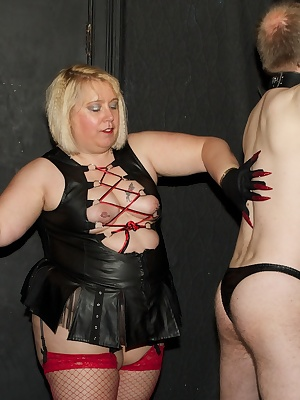 Hi GuysHere you see me teasing a new slave who wanted to experience a dominant lady.I loved tying him up to the wall, bl