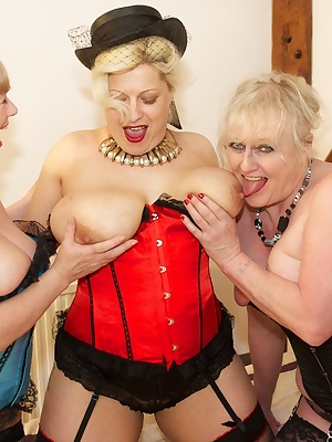 Well it made a change for all us Girls to be Ready First, but we were  and all dressed up ready to film an Orgy Scene, b