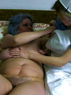Watch lesbian older women playing with their pussies