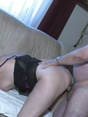 Sexy granny fucking with old man