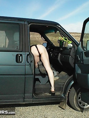 I couldnt think of a nicer place to get naked than on the side of the highway, overlooking a creek. I remember running b