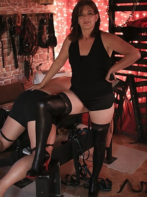 Watch me working out my stress on my two wimpy slaves