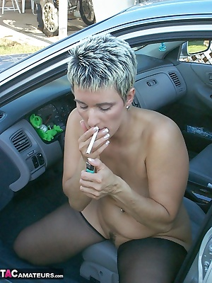 So, you have always wanted to see a chick smoking naked outside. That is a cool fantasy but lets spice it up a bit. I en