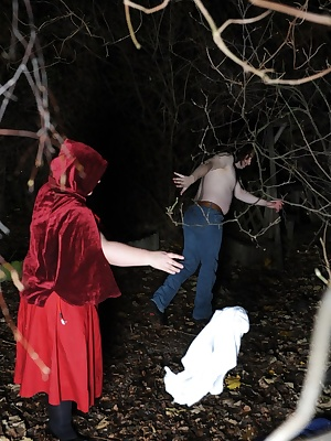 If you go down in the woods tonight, you're sure of a big surprise Red Riding Hood has taken the Woodsman's chopper and