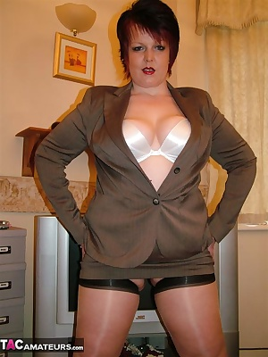 In My Sexiest Mini Skirt Suit With Seamed Stockings  Heels I Was Determined To MAke A