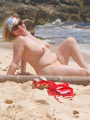 Hi Guys, Another set from my holiday in Barbados, on the beach in my red bikini, not much else to say really, enjoy the