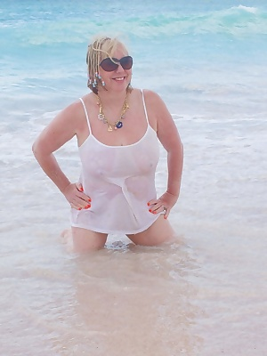 Hi Guys, More Holiday Snaps   I know you all love a Girl in a Wet Tee Shirt so what else could I do but get down on the