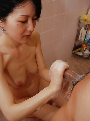 Satomi Fujiki enjoys hardcore fucking and gets her hairy cunt creampied
