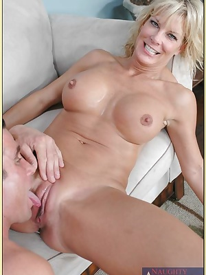 Mature lady with incredible boobs TJ Powers fucking stiff shaft