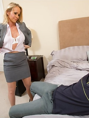 Simone Sonay: Mature working blonde in glasses fucking