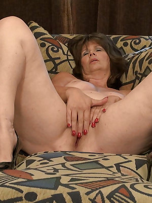 Granny and mature toying and masturbating