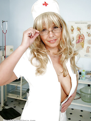 Nurse in fetish uniform
