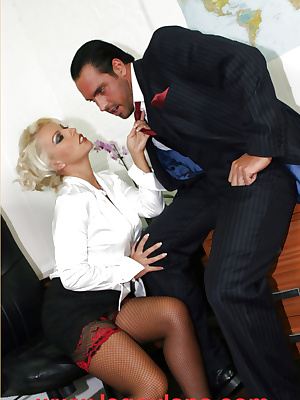 MILF fucked at her desk