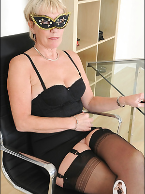 Lady Sonia: Horny mysterious lady in black lingerie