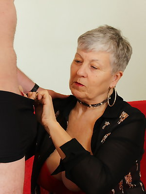 British mature lady playing with her toy boy