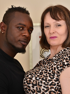 British big breasted housewife goes interracial