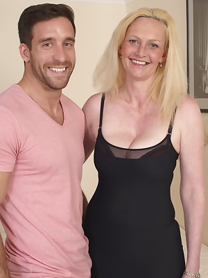 Naughty British housewife playing with her boyfriend