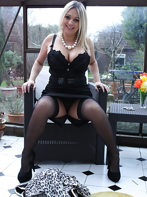 Hot big breasted British housewife teasing us