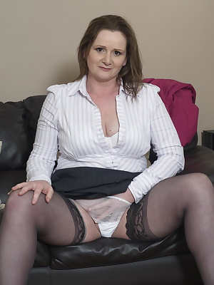British housewife teasing and waiting to show you more
