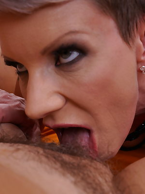 Two naughty mature ladies going full lesbian