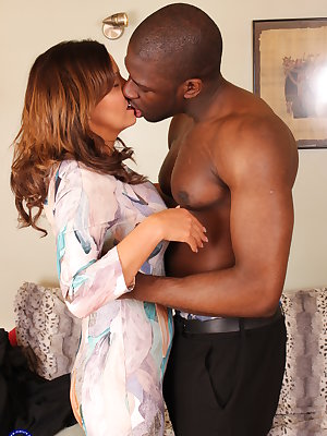 Hot British MILF getting an interracial surprise
