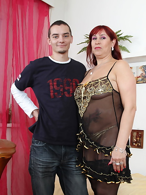 This horny mature slut loves a hard cock
