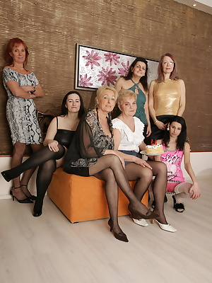 Welcome to our naughty old and young lesbian party
