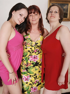 Three old and young lesbians love to get naughty
