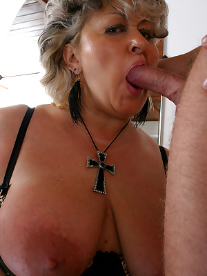 Big titted grannie wants a cock in her fanny