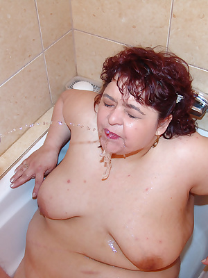 Chubby nurse gets fisted and pissed on