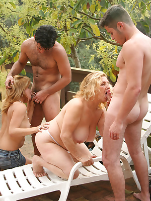 Two sluts getting fucked by two dudes